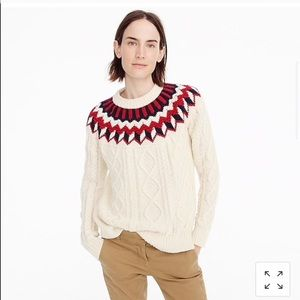 J. Crew Fair Isle Circular Cable-knit Long Sleeve